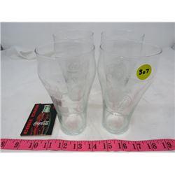 LOT OF COCA-COLA ITEMS (4 COKE GLASSES, 1999 COKE CARD)