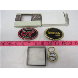 LOT OF BELT BUCKLES (WITH KEY CLASP) *CANADIAN ENERGY SERVICES, PREMAY EQUIPMENT, PREMAY EDMONTON, E