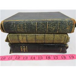 LOT OF 3 BIBLES