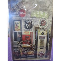 """COCA-COLA METAL SIGN *NEW IN PACKAGING* (23.5"""" T X 16"""" L)"""