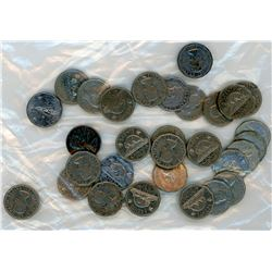 LOT OF 30-FIVE CENT COINS (ALL 12 SIDED) *VARIOUS DATES* (CANADIAN)