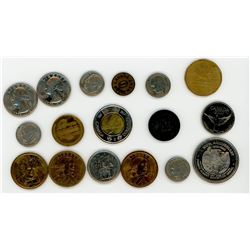 LOT OF 17 NEWER COINS AND TOKENS (VARIOUS YEARS)