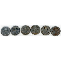 LOT OF 6 VICTORY NICKLES (CANADA) * 3 X 1944, 3 X 1945*