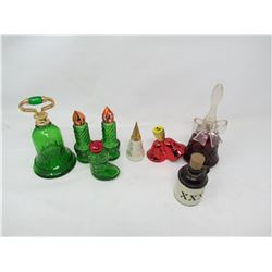 LOT OF 8 GLASS SMALLS ( CHRISTMAS ETC…)