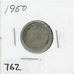 TEN CENT COIN (CANADA) *1950* (SILVER)