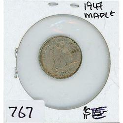 TEN CENT COIN (CANADA) *1947 MAPLE* (SILVER)