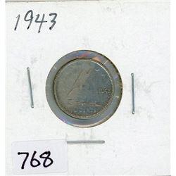 TEN CENT COIN (CANADA) *1943* (SILVER)