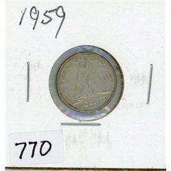 TEN CENT COIN (CANADA) *1959* (SILVER)
