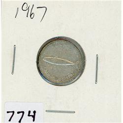 TEN CENT COIN (CANADA) *1967* (SILVER)