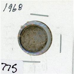 TEN CENT COIN (CANADA) *1968* (SILVER)