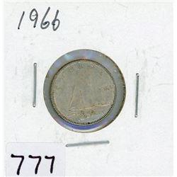 TEN CENT COIN (CANADA) *1966* (SILVER)