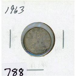 TEN CENT COIN (CANADA) *1963* (SILVER)