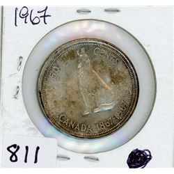 FIFTY CENT COIN (CANADA) *1967* (SILVER)