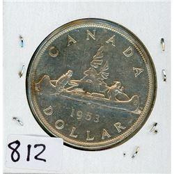 ONE DOLLAR COIN (CANADA) *1953* (SILVER)