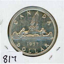 ONE DOLLAR COIN (CANADA) *1957* (SILVER)