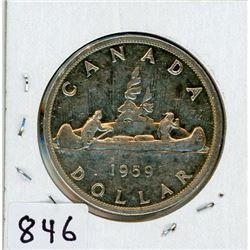 ONE DOLLAR COIN (CANADA) *1959* (SILVER)