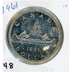 ONE DOLLAR COIN (CANADA) *1961* (SILVER)