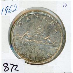 ONE DOLLAR COIN (CANADA) *1962* (SILVER)