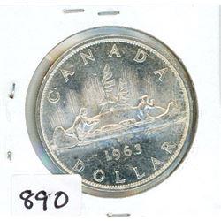 ONE DOLLAR COIN (CANADA) *1963* (SILVER)