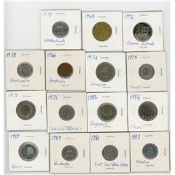 LOT OF 15 ASSORTED WORLD COINS (VARIOUS YEARS, COUNTRIES AND DATES)