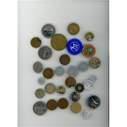LOT OF 30 HIGH QUALITY TOKENS (ASSORTED YEARS, DATES, AND ENTITIES)