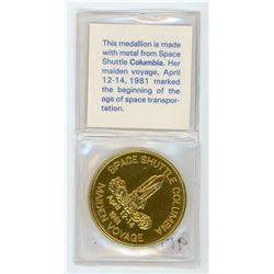 TOKEN MADE FROM THE SPACE SHUTTLE COLUMBIA (1981)