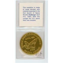 TOKEN MADE FROM THE SPACE SHUTTLE CHALLENGER (1983)