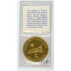 TOKEN MADE FROM THE SPACE SHUTTLE ATLANTIS (1985)