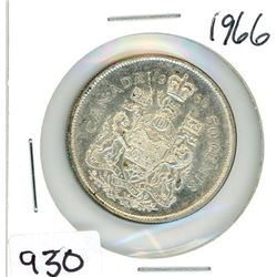 ONE FIFTY CENT COIN (CANADA) *1966*
