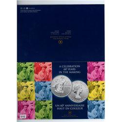 TWENTY DOLLAR SILVER COIN (CANADA) *QUEENS 60TH ANNIVERSARY* (CANADIAN MINT) *2012*