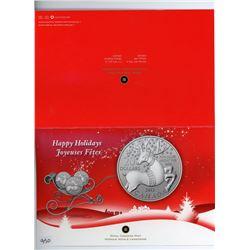 TWENTY DOLLAR SILVER COIN (CANADA) *CHRISTMAS* (CANADIAN MINT) *2012*