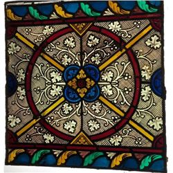 1890s Stained Glass Window from Rotterdam