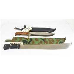 Machete and Bowie Knife