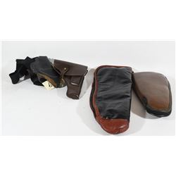 Two Soft Pistol Cases and Two Holsters