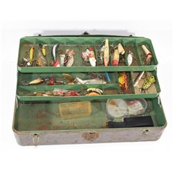 Union Steel Tackle Box & Vintage Lures