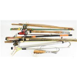 Fishing Rods and Reels with Gaffs