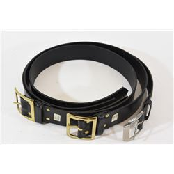 Black Leather Belts Size 29, 30 & 32