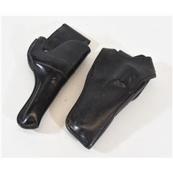 Two Black Leather Holsters