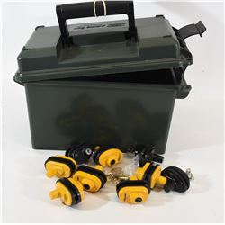 MTM Ammo Case & 9 Trigger Locks