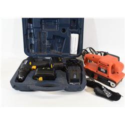 Drill and Belt Sander