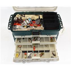 Plano Tackle Box with Tackle, Reels, Sinkers...