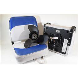 2 Designer Boat Seats & Prop 3850301V - 141/2 x19