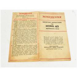 Winchester Model 63 Brochure