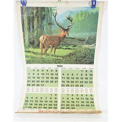 Winchester Calendar 1968