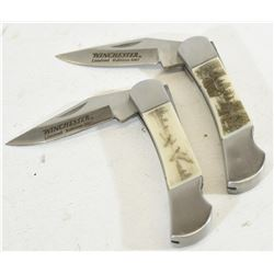 Two Folding Winchester Pocket Knives