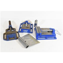 Drill Press Vises, Battery Brush & Glue Trowel