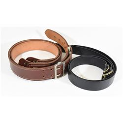 Two Brown & Two Black Belts - Size 32