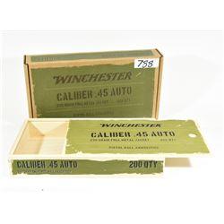 Wooden Winchester 45 Auto Box (Empty)
