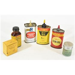 Five Containers of  Vintage Cleaning Supplies