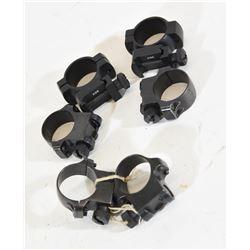 2 Sets Ruger Rings & 1 Set Med Dovetail Rings